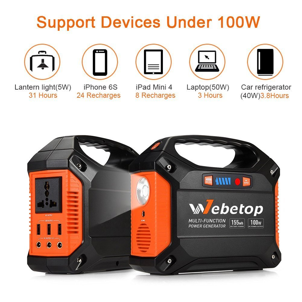 2fb5780642d1b3 Webetop 155Wh 42000mAh Generator. Jackery Portable Power Station 240WHClick  for ...